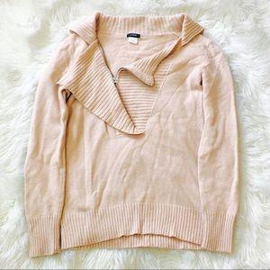 J Crew Wool Cashmere Blush Side Zip Sweater!